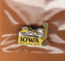 1986 ROSE BOWL GAME LAPEL PIN IOWA HAWKEYES OFFICIAL Unsold Game Site Stock