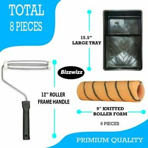 """Bizwizz 9""""(229mm) Tiger Stripe Paint Roller Set with Tray and 2 Sleeves"""