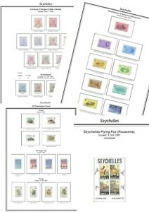Print a Seychelles Stamp Album, fully illustrated and annotated