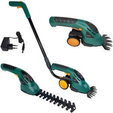 2in1 Grasschere Strauchschere Akku inkl. Räder und Griff Rasenschere Elektrische