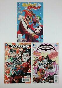 Harely Quinn Variant Lot Harley Quinn #15 Justice LEague #39 Batman & Robin #39