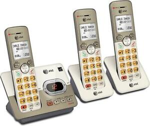 Cordless Phone System 3 Handsets Answering Machine Expandable AT&T EL52313 Gifts