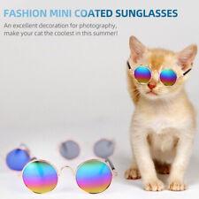 Pet Cat Glasses Classic Retro Circular Stylish Dog Goggles Sunglasses UV W1D7