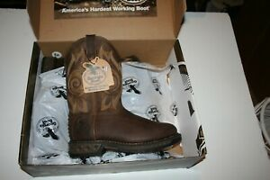 NEW! Georgia Boot Men's Carbo Tec LT Pull On 9 Wide Width Boot Brown #GB00240