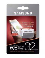 32GB Samsung Micro SD Card SDHC EVO Plus 95MB/s UHS-1 Class 10+adapter Genuine