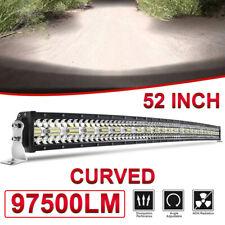 "52inch Curved LED Light Bar Flood Spot for 99-06 Chevy Silverado/GMC Sierra 50"""
