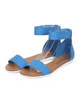 New Women Breckelles Joy-43 Leatherette Open Toe Ankle Strap Sandal