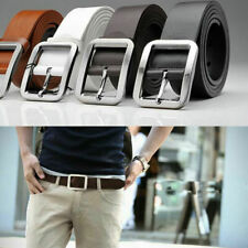 Mens Genuine Leather Casual Dress Belt Pin Buckle Waist Strap Belts Waistband ,j