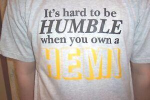 Chrysler Hemi Hard to be Humble  t-shirt   Vintage Mopar NOS  XXL Or  XXXL  0170