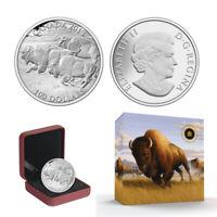 2013 $100 CANADA Bison, FINE .9999 SILVER COIN (OGP/COA)