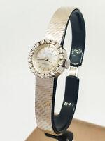 Orologio Vintage VILOR WATCH Carica manuale Oro Bianco 18Kt diamanti Donna 54...