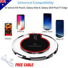 Qi Wireless Charger Charging Pad Mat For iPhone X 7 Plus 8 Samsung S9 S8 plus