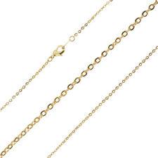 """Chapado en Oro Diamante Corte Oval rastro de enlace cadena con langosta broche 18"""" (G93/26)"""