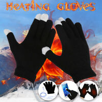 USB Heating Winter Warm Gloves Heated Full Finger Keep Warmer Mitten Men Women F