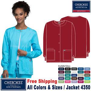 Cherokee Scrubs ORIGINALS Women's Traditional Fit Snap Front Warm up Jacket 4350