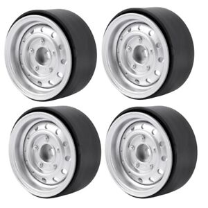 4Pcs Metal 1.9Inch Beadlock Wheel Rim Hub for 1/10 Rc Cler Car Axial Scx10 90046