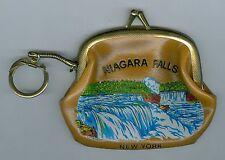Nice 1950's Niagara Falls, Buffalo, New York Souvenir Purse w/Key Chain Ring