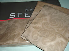 Sferra LAYTON F/Queen Duvet Cover 5 PC. Set Rosewood Cotton Sateen Jacquard New