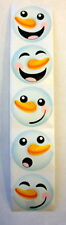 25 Holiday Snowman Stickers Teacher Supply Party Favors Winter Christmas