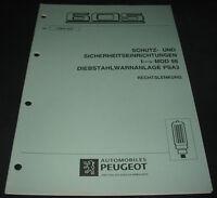 Werkstatthandbuch Peugeot 605 Diebstahlwarnanlage Auto Alarm PSA3 Rechtslenker!