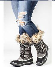 Sorel Joan Of Arctic Suede Gray Boots Sz 8