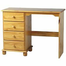 Sol Solid Wood Antique Pine 4 Drawer Dressing Table