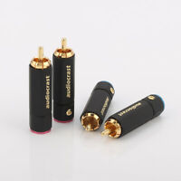 4PCS High-End Cinchstecker RCA vergoldet Phono plugs HIFI
