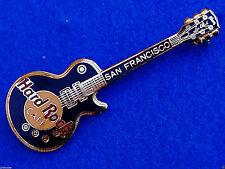 New listing San Francisco Vertical Black Gibson Les Paul Guitar 3Lt Grid Hard Rock Cafe Pin