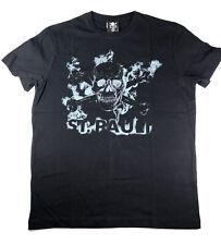 "FC St. Pauli Herren T-Shirt Shirt ""Smoke"" SP011835 Shirt Schwarz Totenkopf Gr. S"