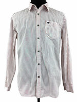American Eagle Mens Athletic Fit Long Sleeve Button Down Striped Shirt Size XL