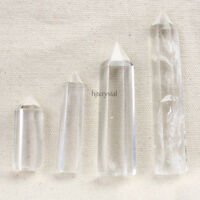 4PCS Rare Natural Healing Quartz Wand Crystal Clear Points Cure Gemstone