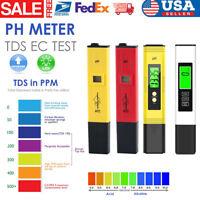 Digital LCD PH Meter Pen +TDS EC Water Purity PPM Pocket Temperature Tester Tool