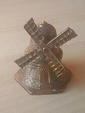 Vintage brass windmill, display ornament, Holland, Dutch, rotating