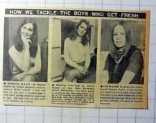 1970 Teachers Barbara Ward, Abigail Whittle, Lyn Elsome Tackle Boys Get Fresh