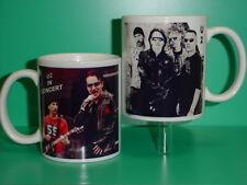 U2 - Bono - with 2 Photos - Designer Collectible Gift Mug 01