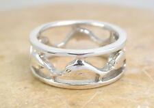 ELEGANT STERLING SILVER DOLPHIN BAND RING size 7.5  style# r1221