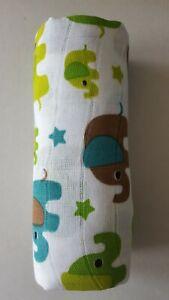 BNWT T-Tomi Bamboo Towel Free P&P 120cm x 120cm Elephants Holiday Fun Bathtime