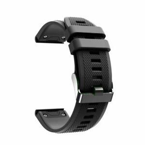 Laufbursche Zubehör Ersatz Armband für Garmin Fenix 6 Silikon schwarz
