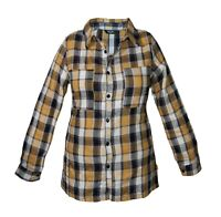 New Women's Shirt Warm Check Pattern Ladies Fit Chest Pocket Long Sleeve Cotton