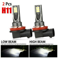 Pair Combo LED Mini H11 Headlight Kit High Low Beam 120W 30000LM 6000K FOG BulbS