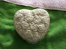 Lenox rose covered heart shaped trinket box