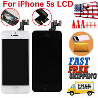 For iPhone 5S A1533 A1453 LCD Touch Screen Digitizer Replacement + Button+Camera