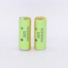 2pcs Panasonic NCR18500A Li-Ion Rechargeable 3.7V 2000mAh Battery with Tabs