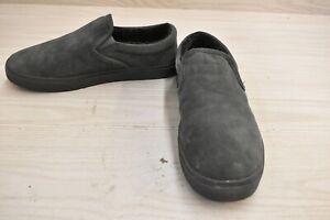 Minnetonka Alden 41165-010 Slipper, Men's Size 12M, Charcoal