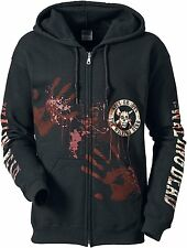 Walking Dead Kill Or Die Hooded zip black All Sizes