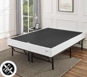 "7"" Smart Metal Box Spring Bed Mattress Support Folding Twin"