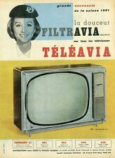 """""""TELEAVIA (ALGERIE)"""" Annonce originale entoilée années 50 28x38cm"""