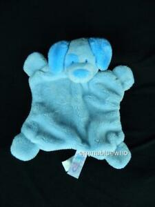 Mary Meyer Baby Blue Puppy Dog Security Blanket Lovey Plush Small ~ SWEET