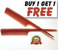 "Brown Caramel Barbers Plastic Pin Tail Comb 8"" Rat Tail Comb UK Quality Duralon"