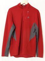 Nike Fit Dry ACG Maroon/Charcoal 1/4 Zip Poly fleece Pullover Jacket Men's US LG
